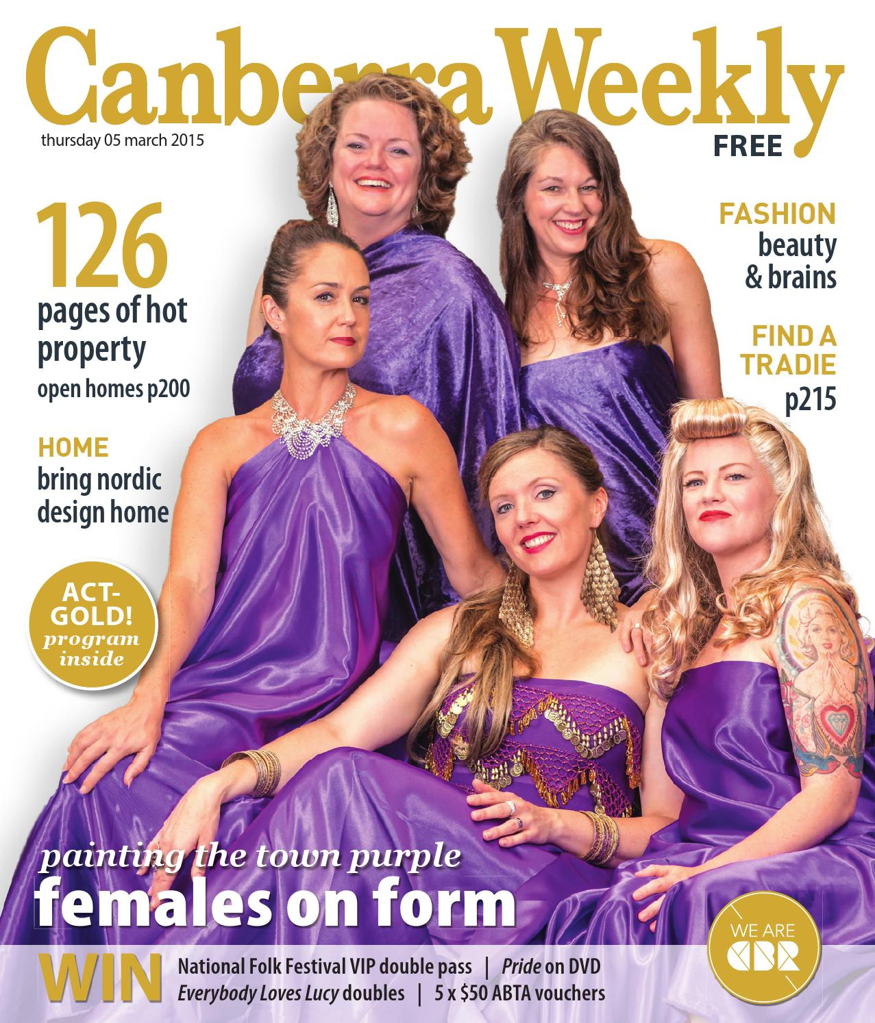 8f74a9d9e8 5 March 2015 by Canberra Weekly Magazine - issuu