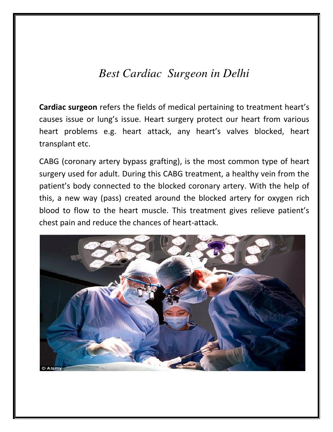Best Cardiac Surgeon In Delhi By Prani Health Solutions Issuu