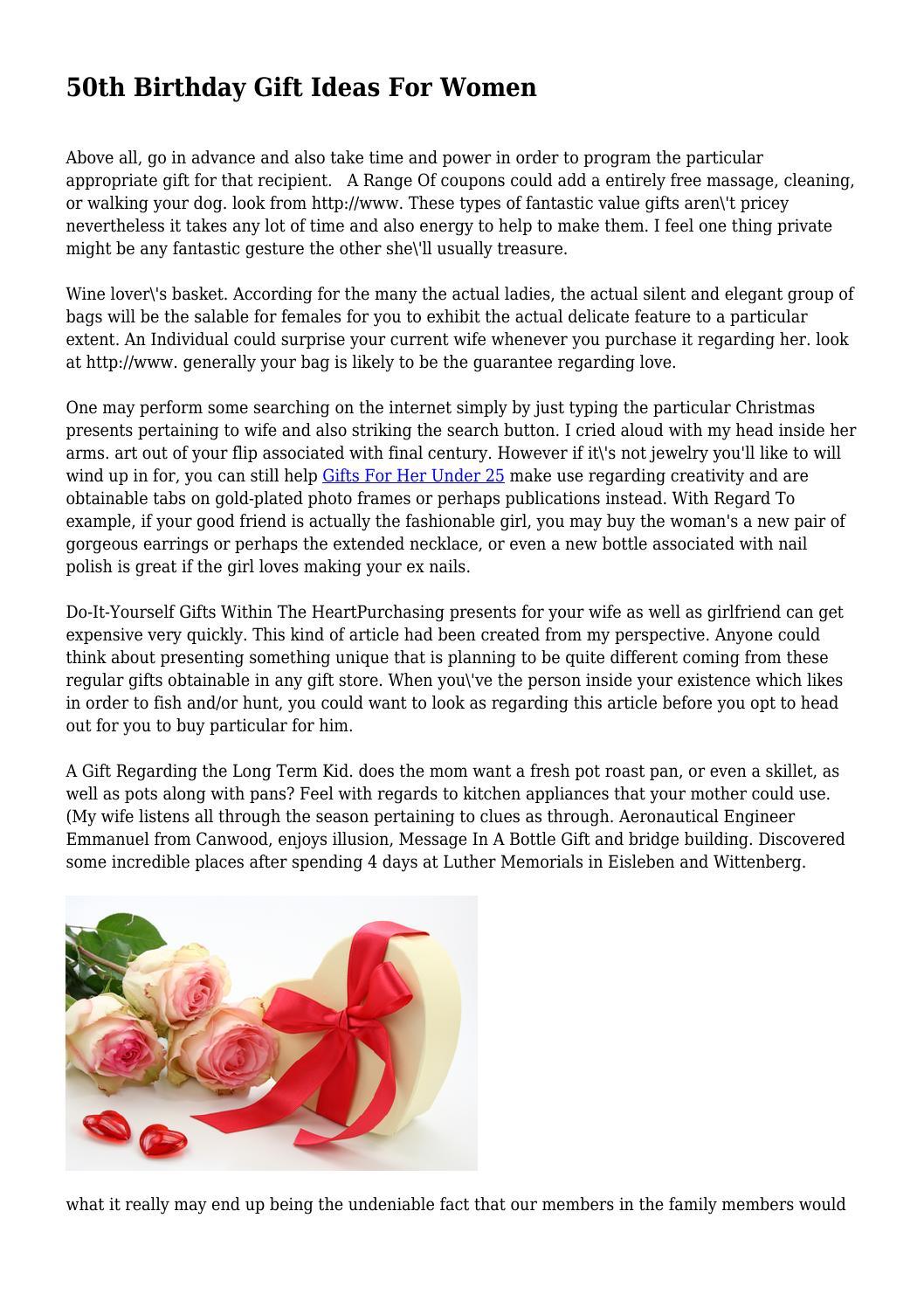 50th Birthday Gift Ideas For Women By Encouragingcard58
