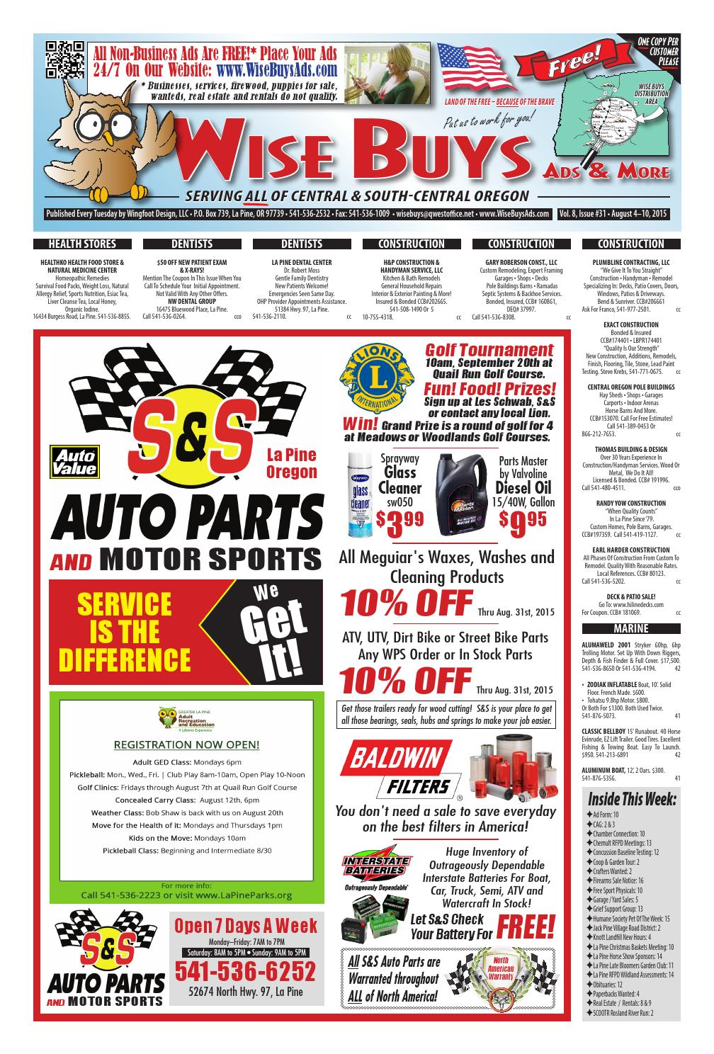 Wise Buys 08-04-15 by Wise Buys Ads & More - issuu