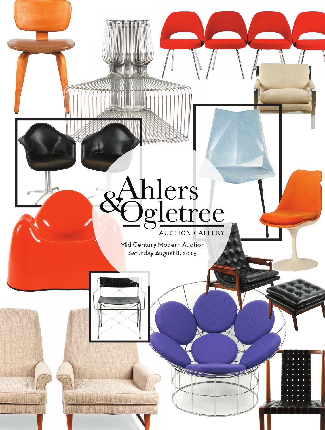 Surprising Ahlers Ogletree Auction Gallery August 2015 Mid Century Pabps2019 Chair Design Images Pabps2019Com