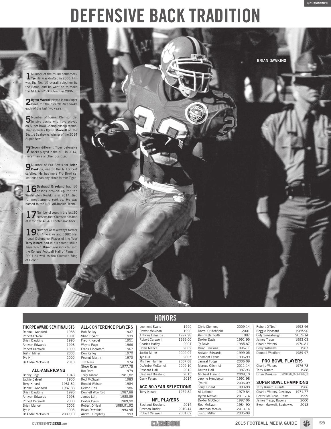 2015 Clemson Football Media Guide by Clemson Tigers - Issuu
