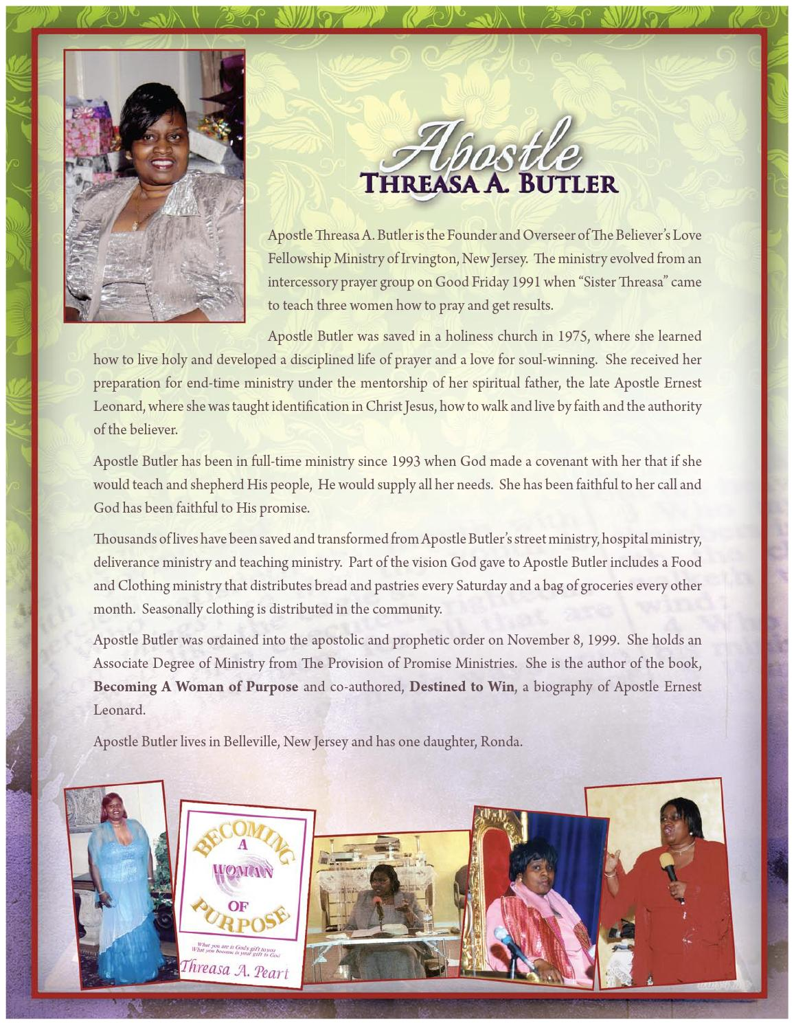 Celebrating 24 Years of Ministry Apostle Threasa Butler by