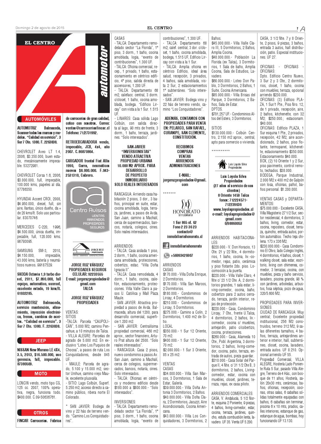 Economicos 02-08-2015 by Diario El Centro S.A - issuu