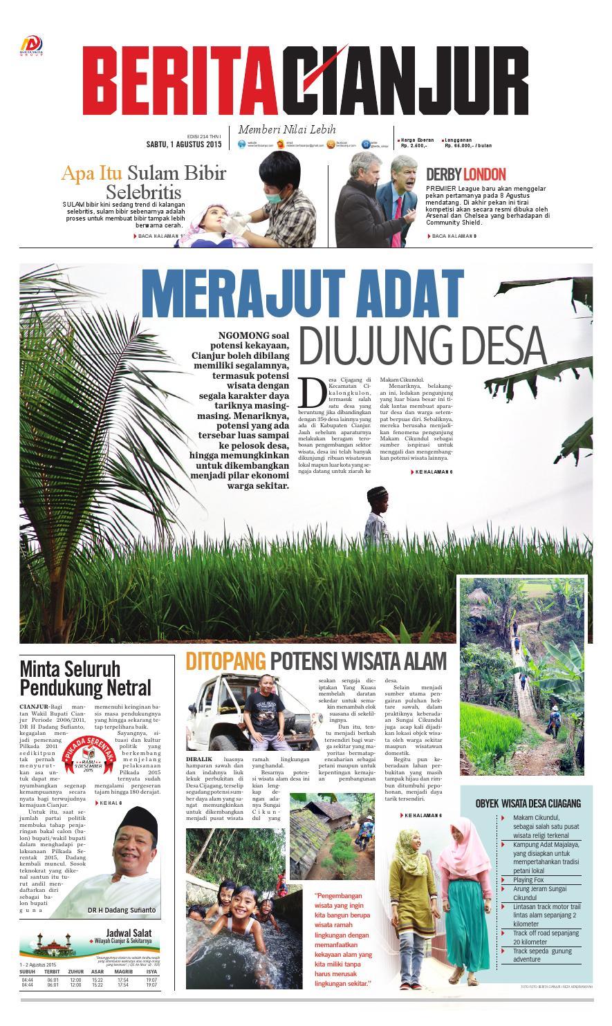 berita cianjur merajut adat di ujung desa by