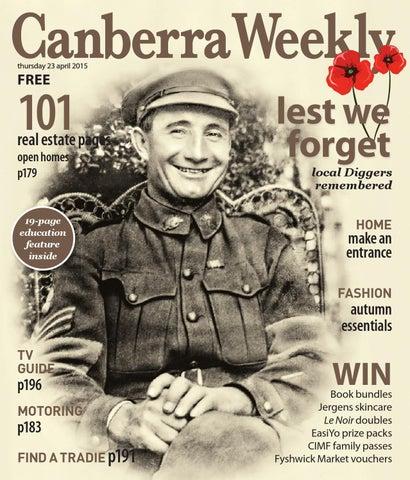 9c9ef409897c98 23 April 2015 by Canberra Weekly Magazine - issuu