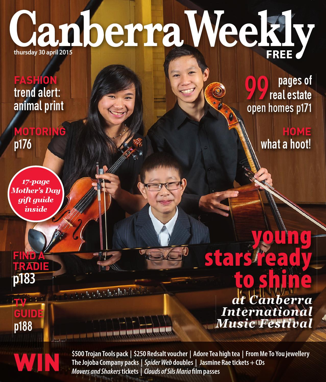 30 April 2015 By Canberra Weekly Magazine Issuu Free Heater Circuit Rosemary Ainslie Basiccircuit