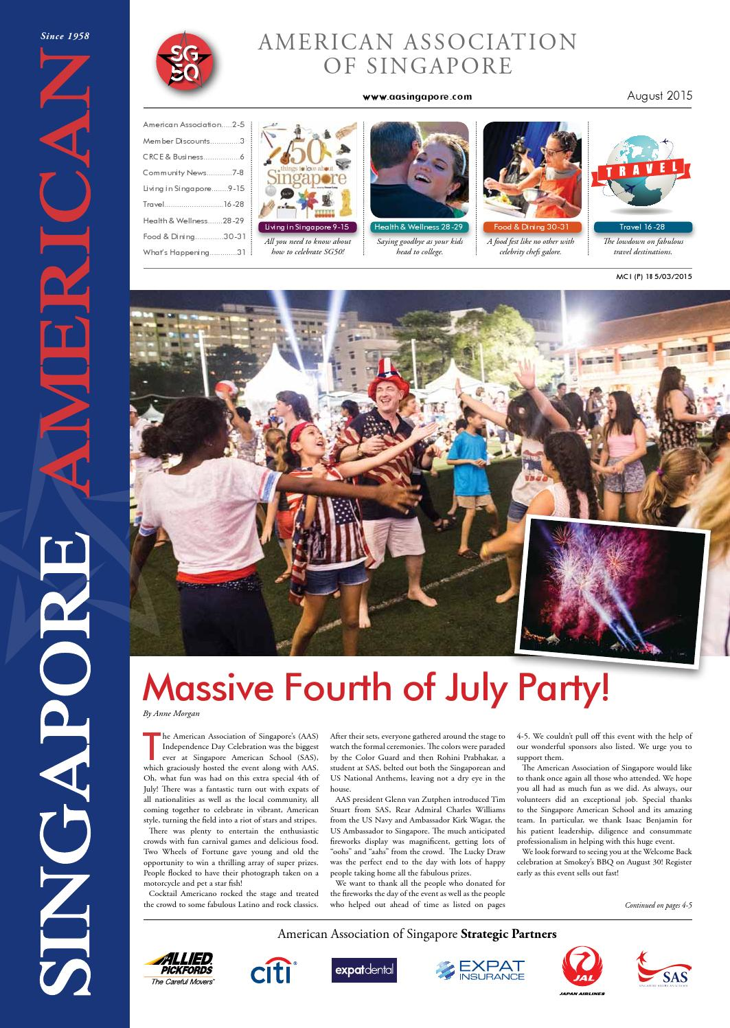 1f3436744 San August 2015 by American Association of Singapore - issuu
