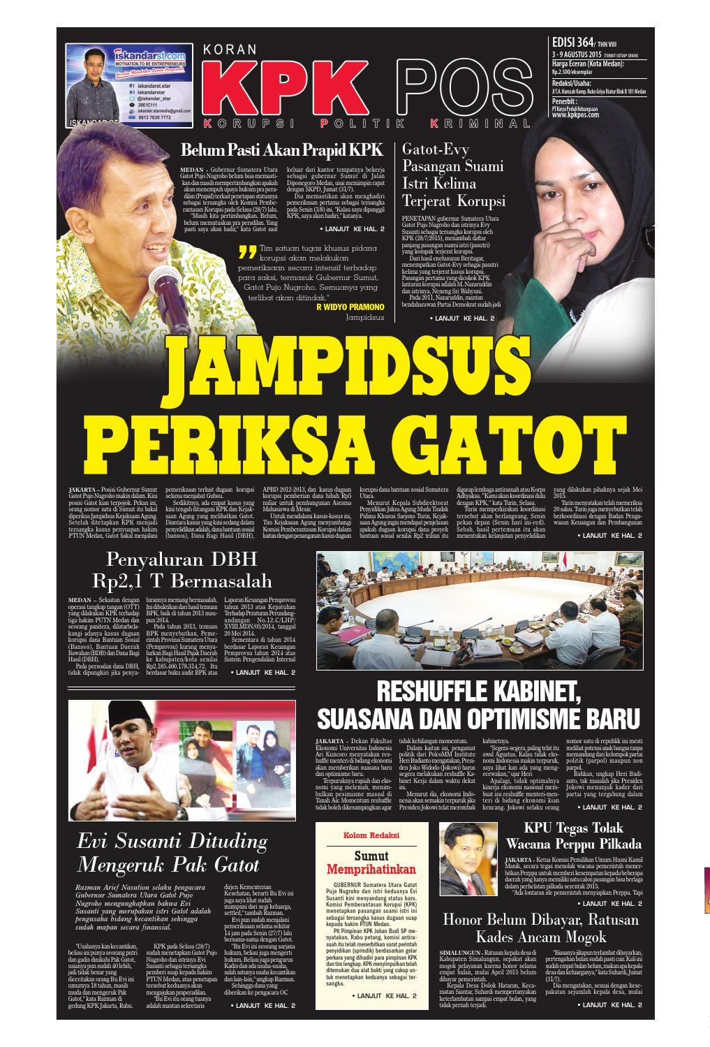 Epaper Kpkpos 364 Edisi Senin 3 Agustus 2015 By Media Andalas Issuu Produk Ukm Bumn Kue Sagu Ikan Haruan