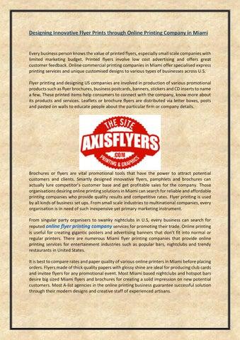 Designing innovative flyer prints through online printing
