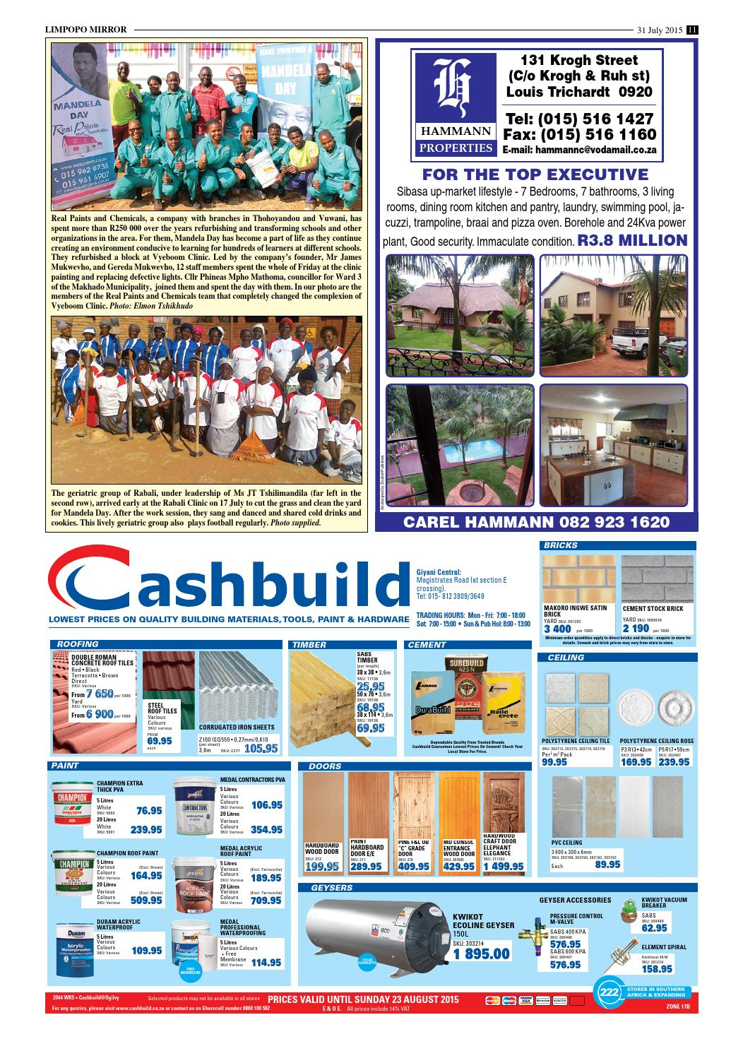 31 July 2015 Limpopo Mirror By Zoutnet Issuu
