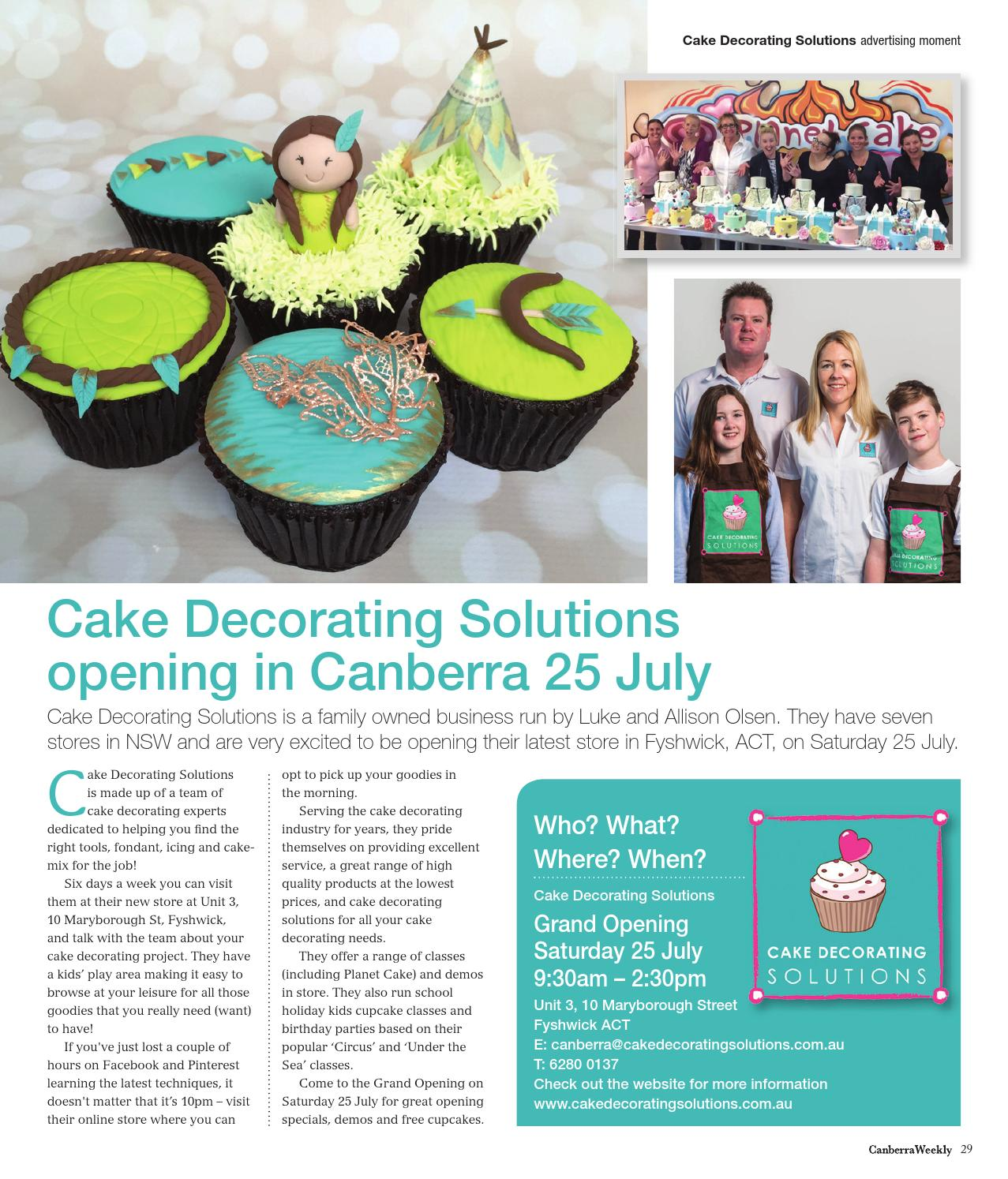 Cake Decorating Solutions Northmead Northmead Nsw : 16 July 2015 by Canberra Weekly Magazine - issuu