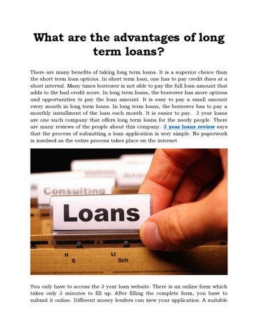 3 Year Loans >> What Are The Advantages Of Long Term Loans By 3 Year Loans Review