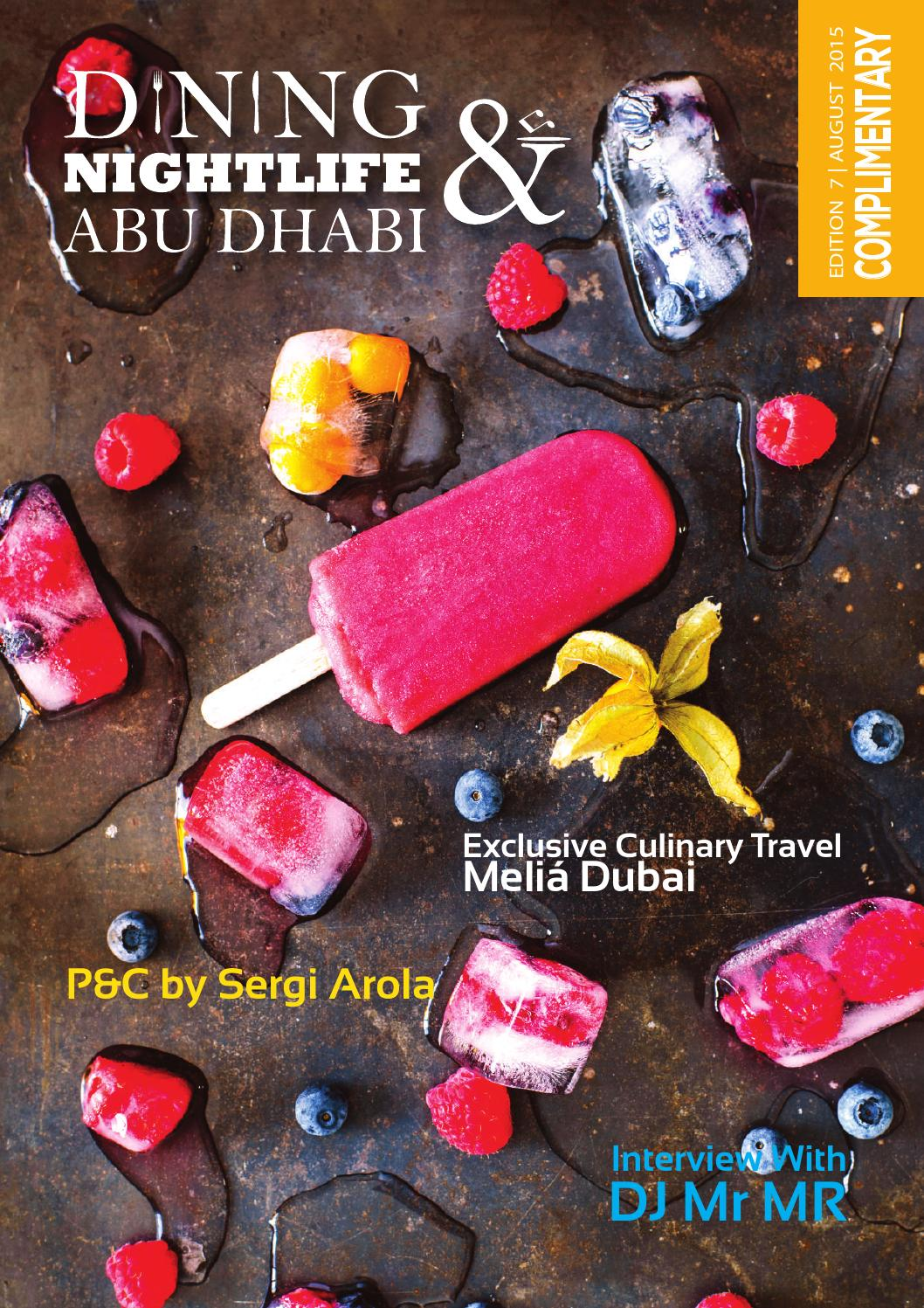 Dining and Nightlife Abu Dhabi Edition 7 by Dining and