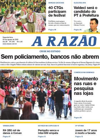 13a36dab08 Jornal A Razão 03 08 2015 by Jornal A Razão - issuu