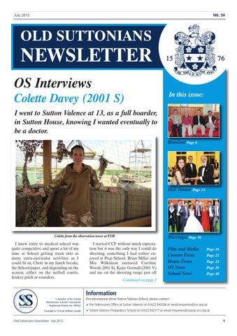 ecb5965e OS Newsletter - July 2013 by Sutton Valence School - issuu