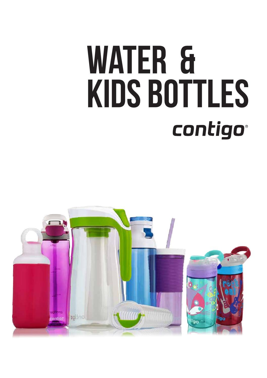 NEW CONTIGO SWISH AUTOSEAL BOTTLE WATER BPA FREE LEAK PROOF DRINK CHILDREN LID