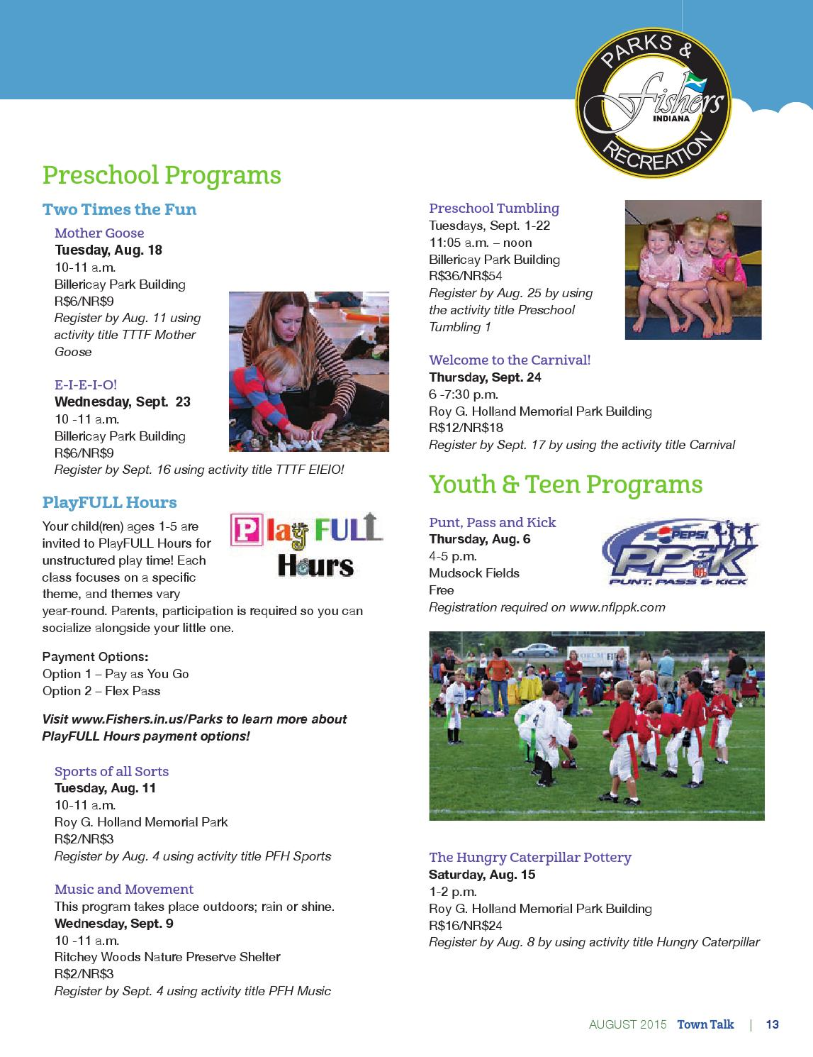 Fishers Town Talk - August 2015 by City of Fishers - issuu