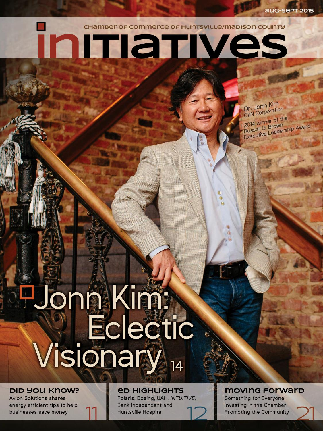 Initiatives magazine, August 2015 by Huntsville/Madison