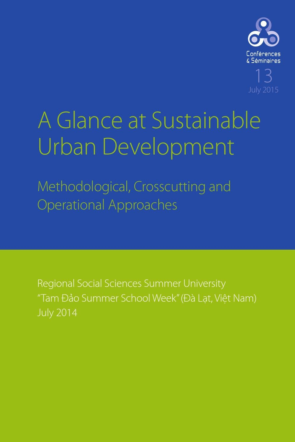 A Glance At Sustainable Urban Development Methodological