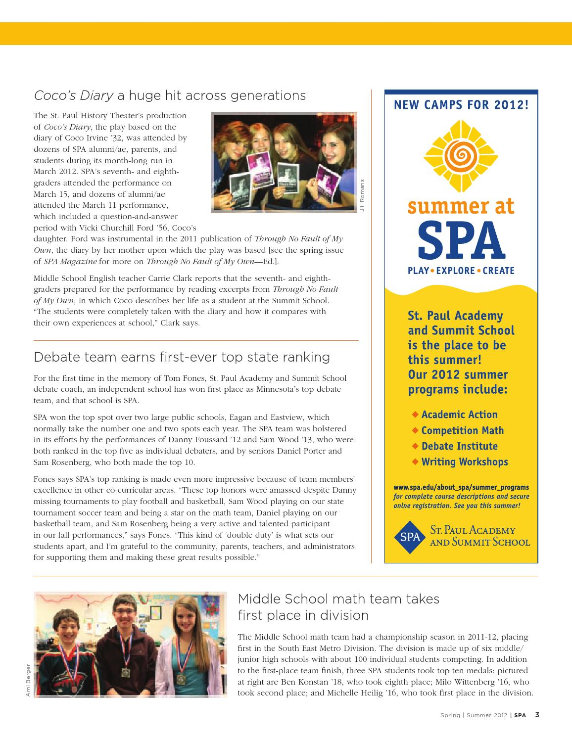 SPA Magazine Spring 2012 by St  Paul Academy - issuu