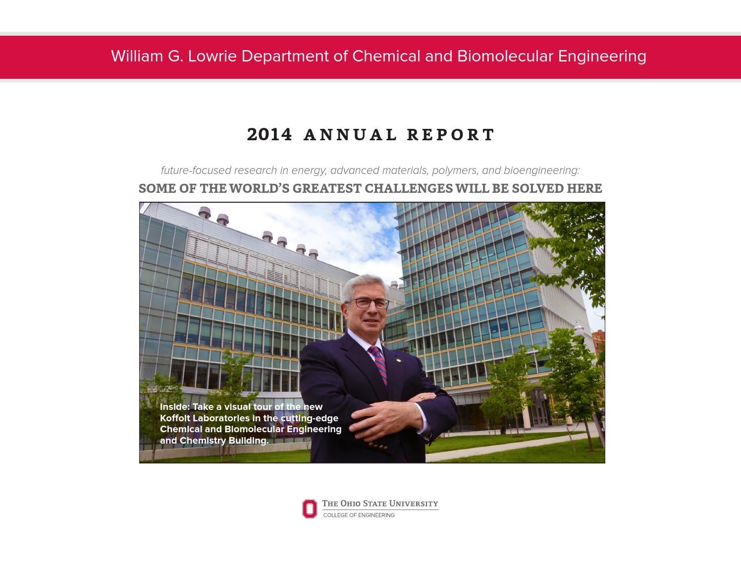 2014 Annual Report Ohio State University Chemical Engineering By You Are Here About Us Gt Why Frontier Power Ohiostatecheme Issuu