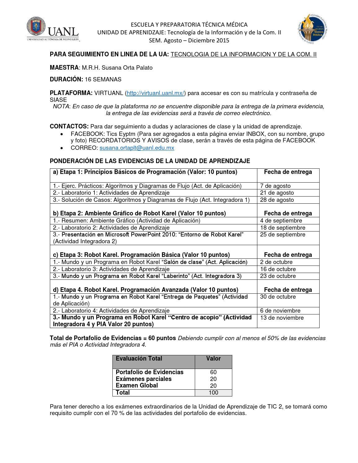 Tic 2 seguimiento en linea instrucciones ad2015 by Susana Orta - issuu