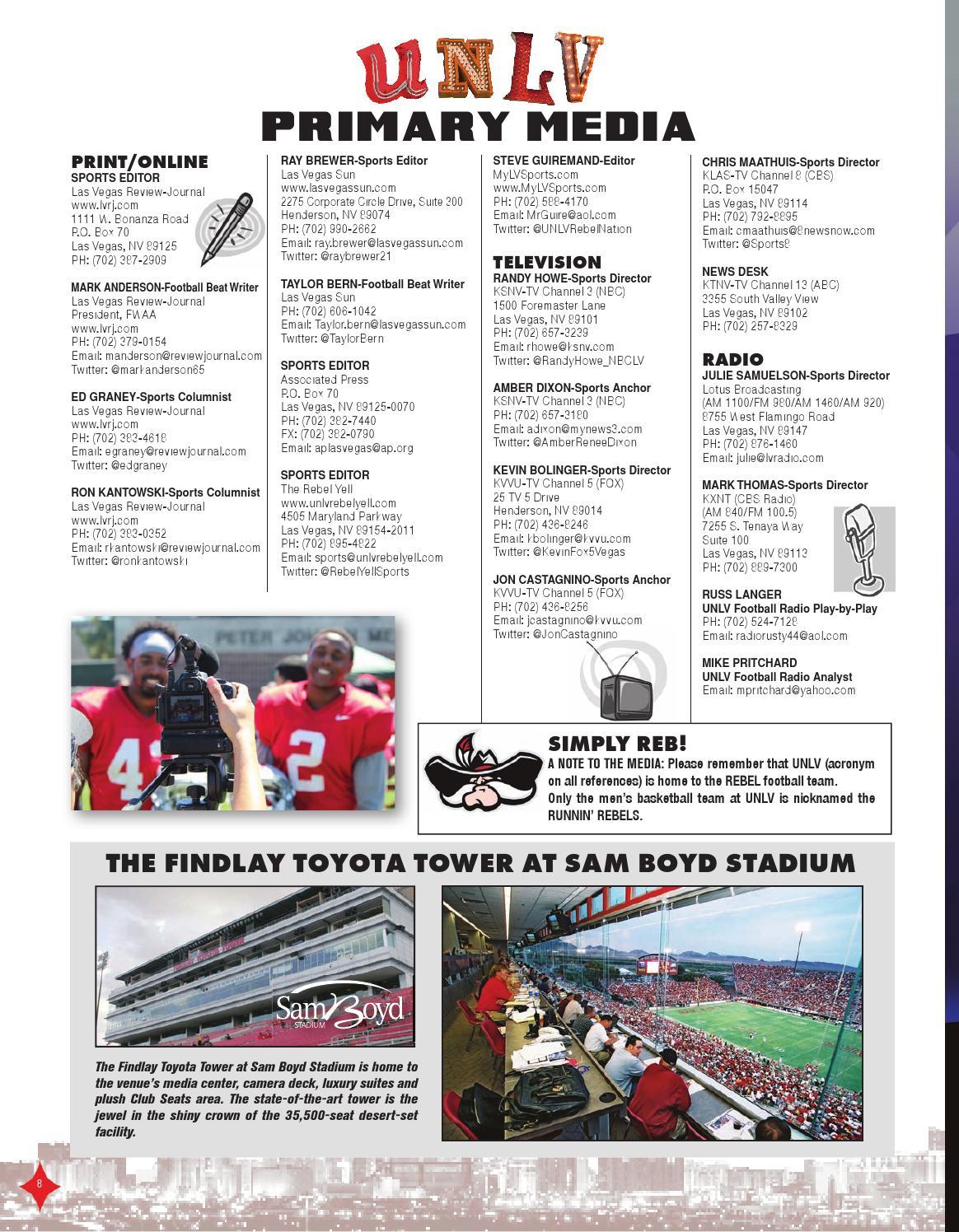 2015 UNLV Football Media Guide by UNLV Sports Information - issuu