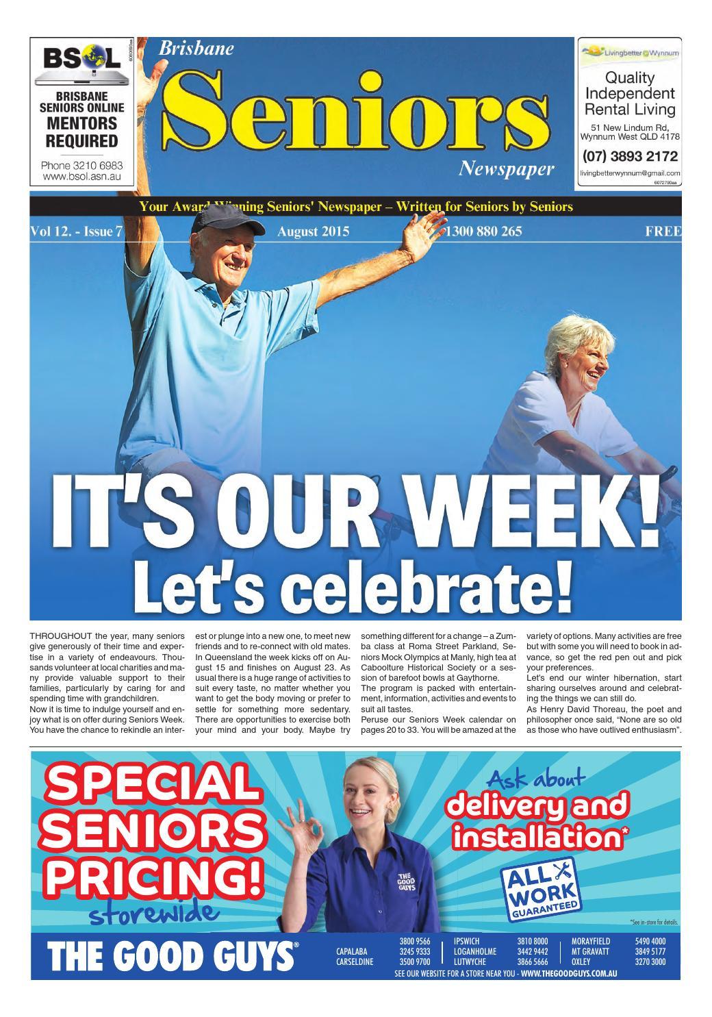 Brisbane seniors newspaper august 2015 by seniors - issuu