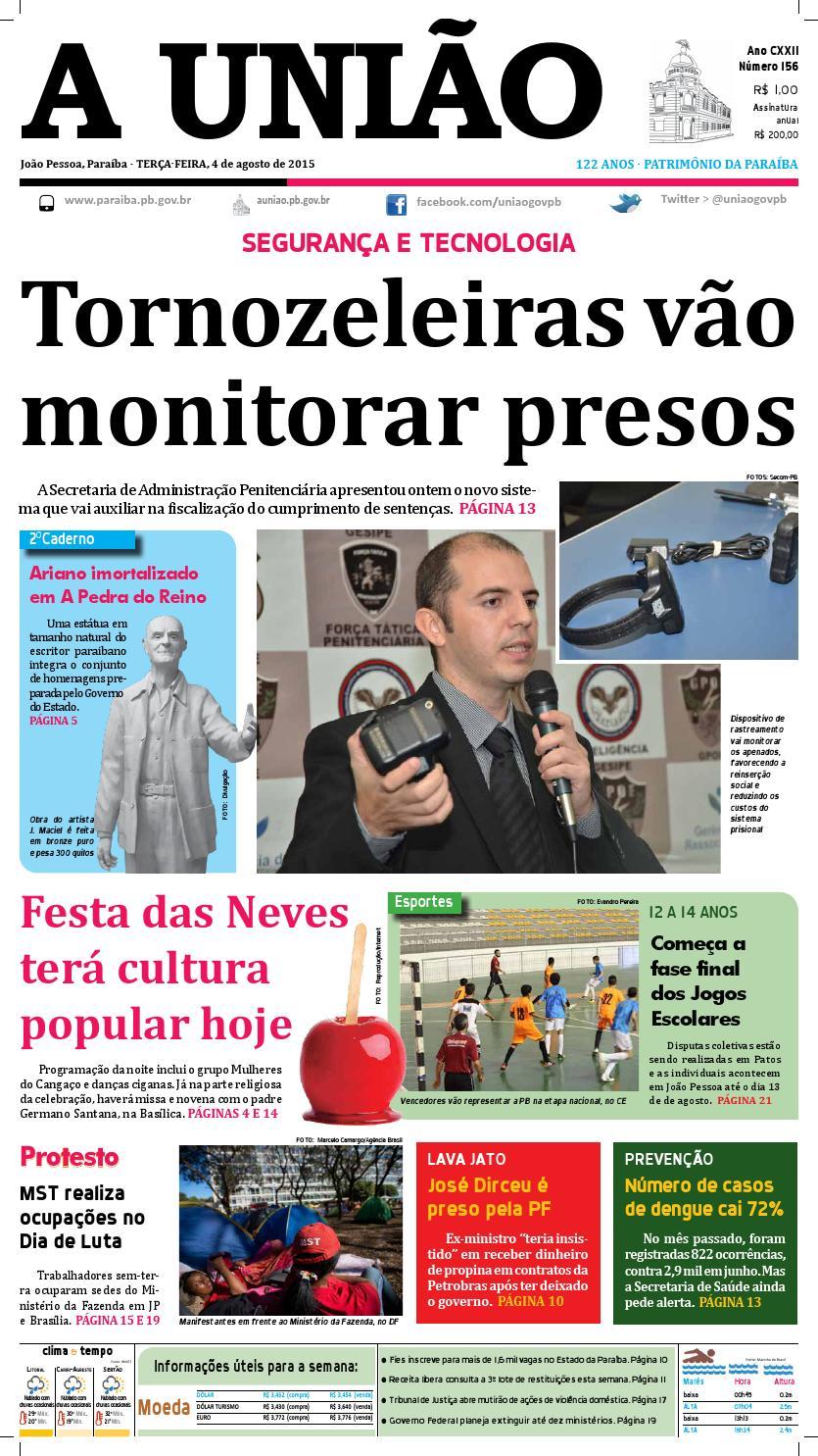 Jornal A União - 04 08 2015 by Jornal A União - issuu d7d5c54e0ca34