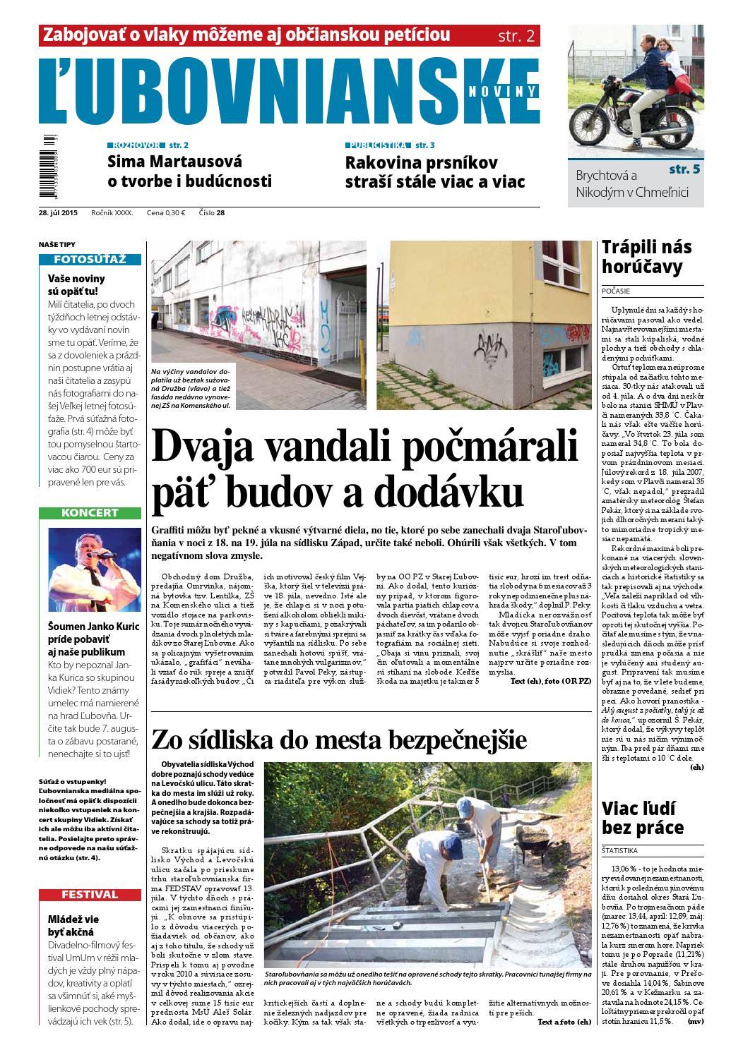 Ľubovnianske noviny č. 28 2015 by Vladimir Zima - issuu ab5619ca421