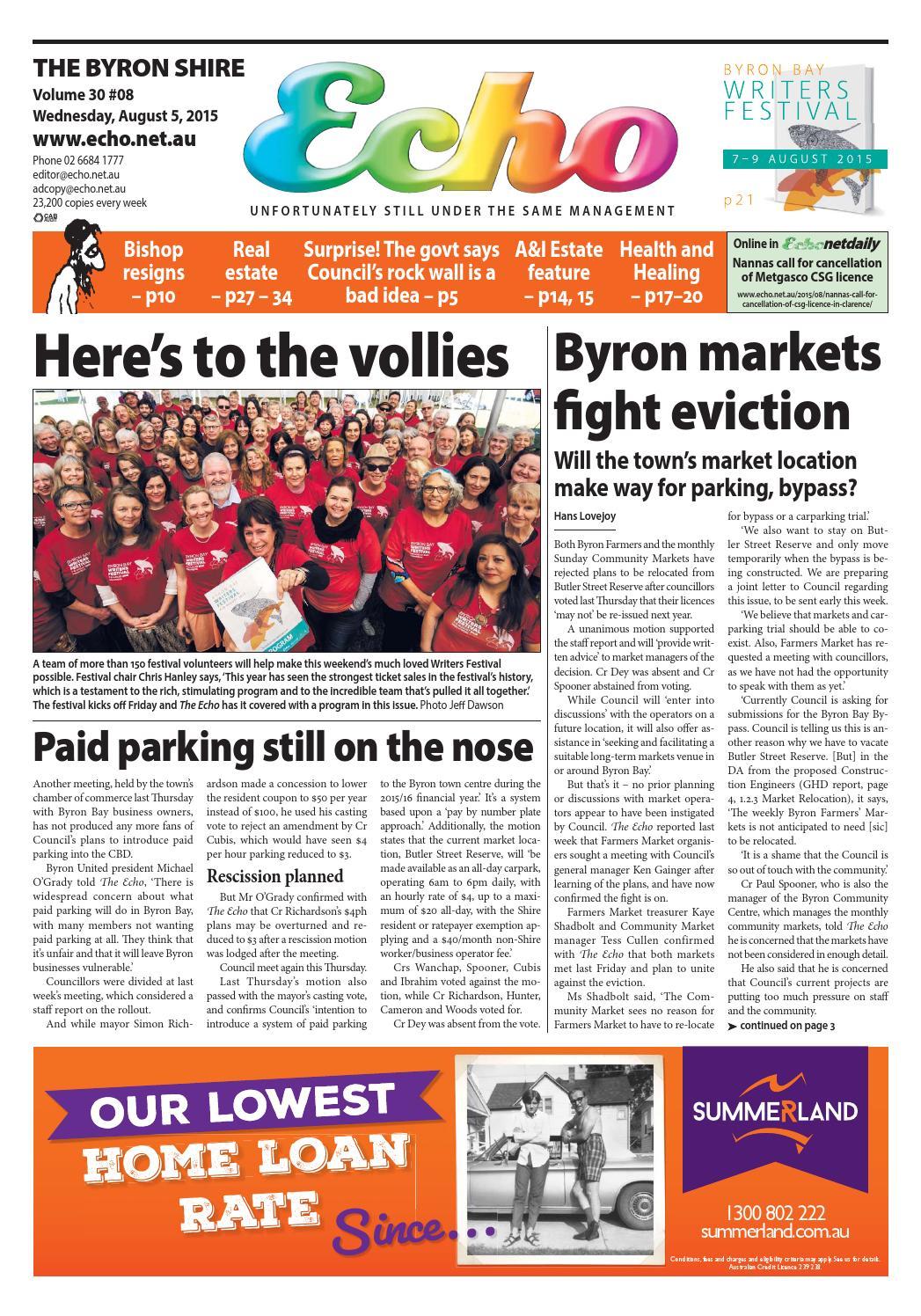 06553e6e3fbf Byron Shire Echo – Issue 30.08 – 05 08 2015 by Echo Publications - issuu
