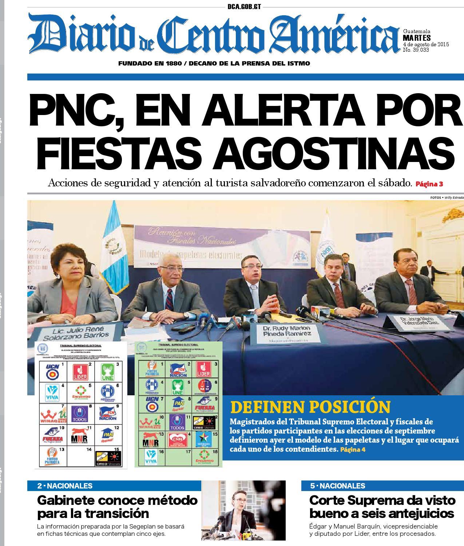 55e760d794 Edicion dca martes 04082015 by Diario de Centro América Guatemala - issuu