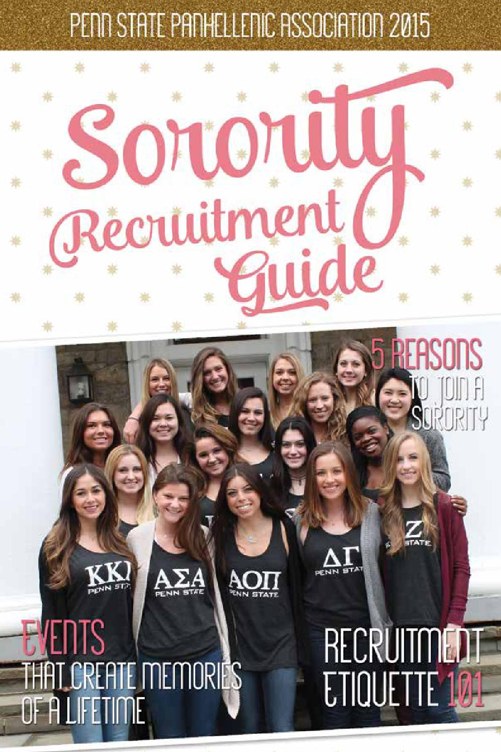 2015 penn state panhellenic sorority recruitment guide by