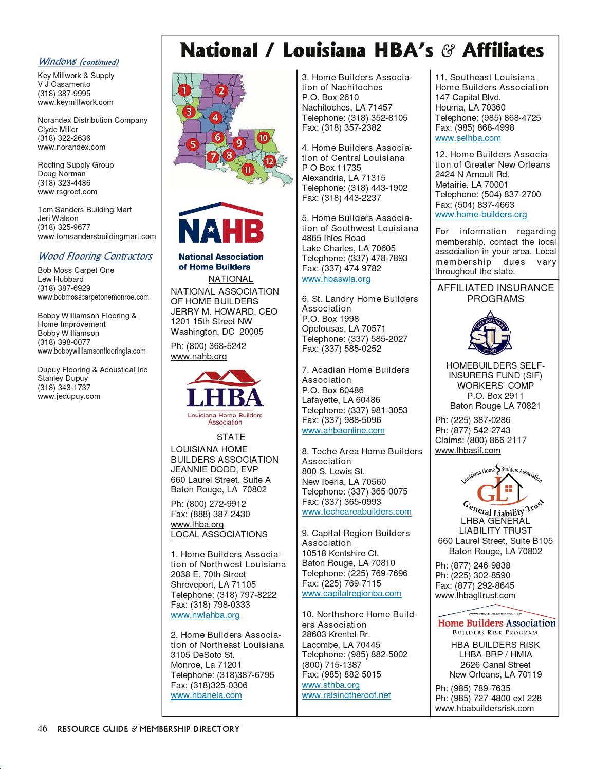 Home Builders Association Of North East Louisiana By