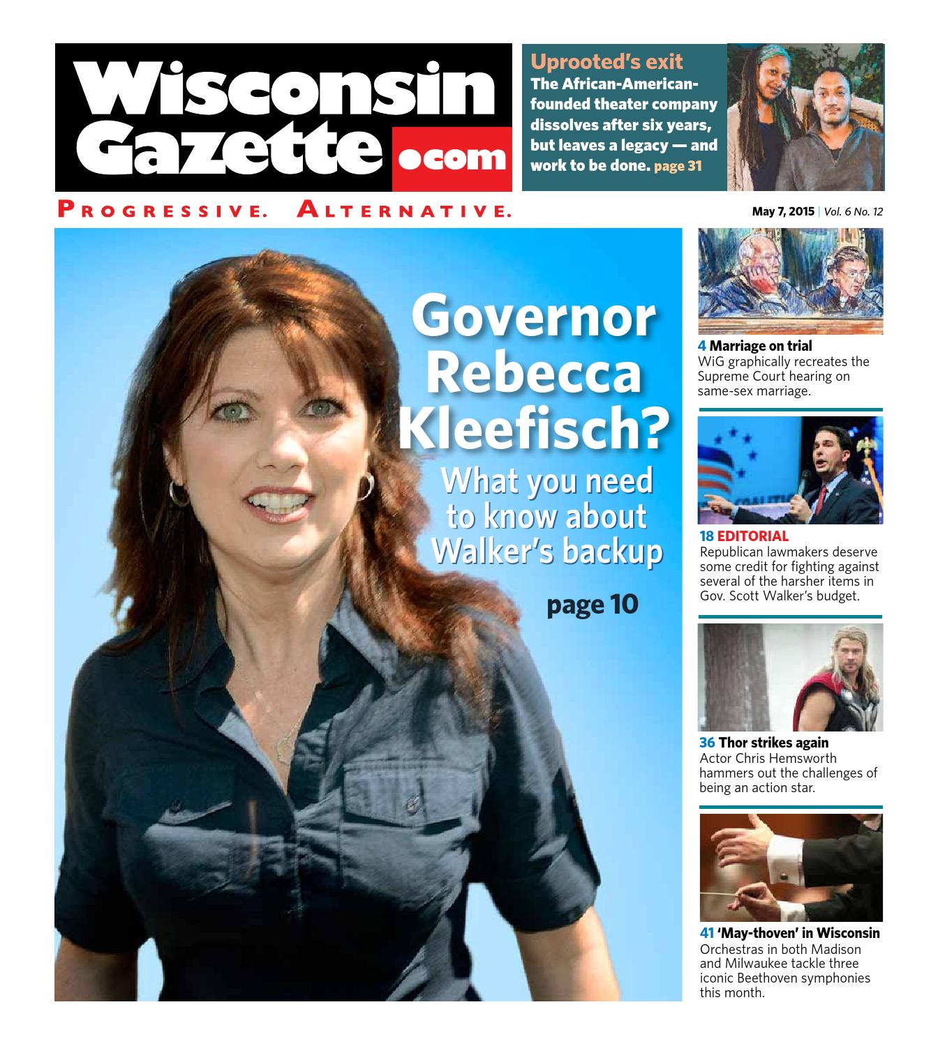 Wisconsin Gazette - May 7, 2015 by Wisconsin Gazette - issuu