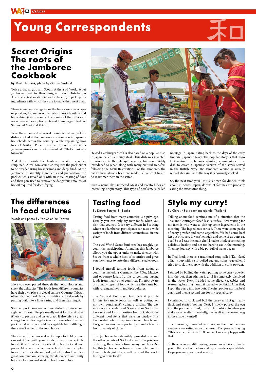 WSJ2015 WA #8 - the 23rd World Scout Jamboree newspaper, no 8 by