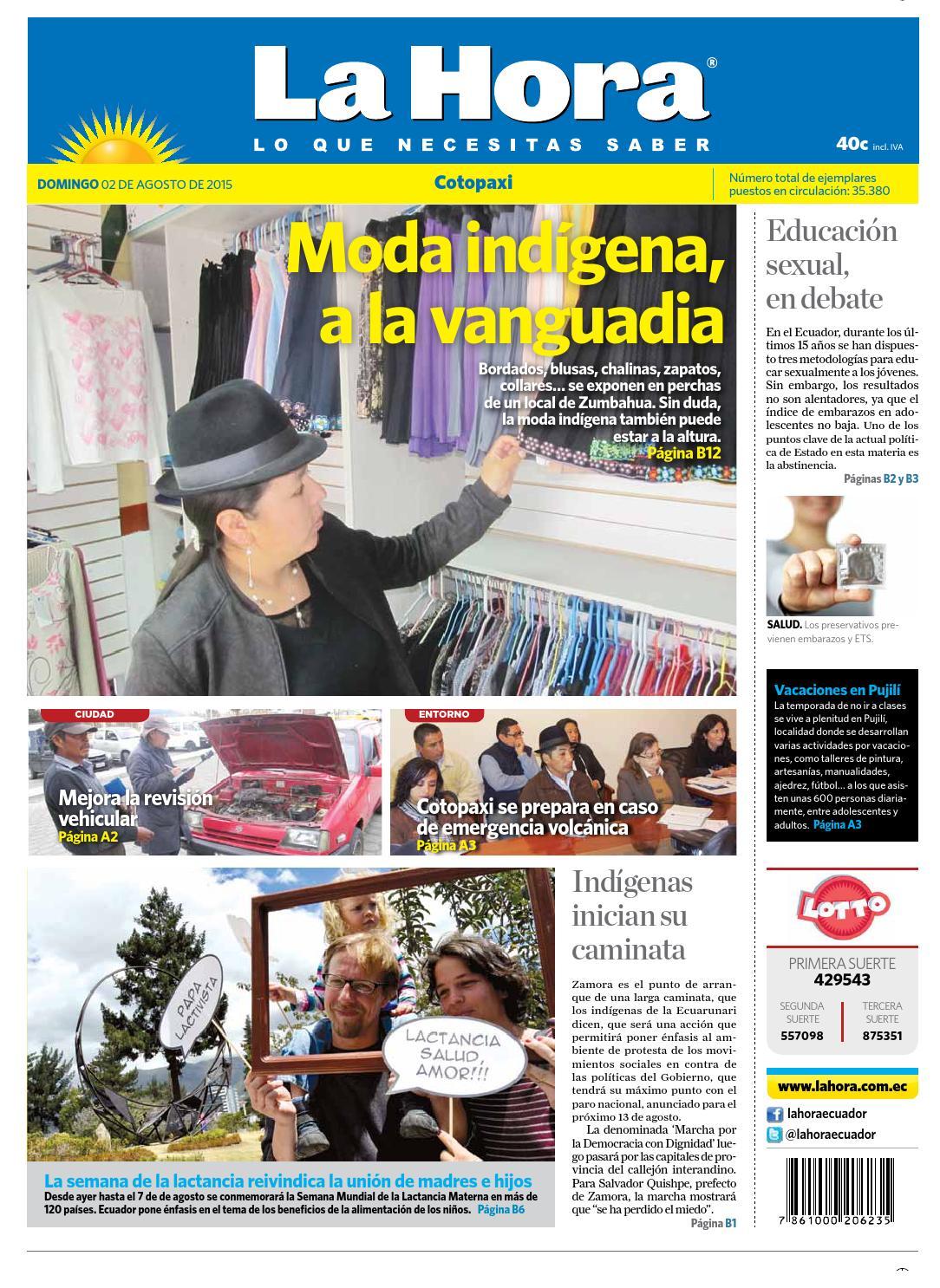 222c94ca8 Cotopaxi 2 agosto 2015 by Diario La Hora Ecuador - issuu