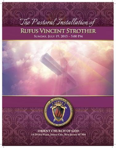 Installation Program for Reverend Rufus V  Strother by