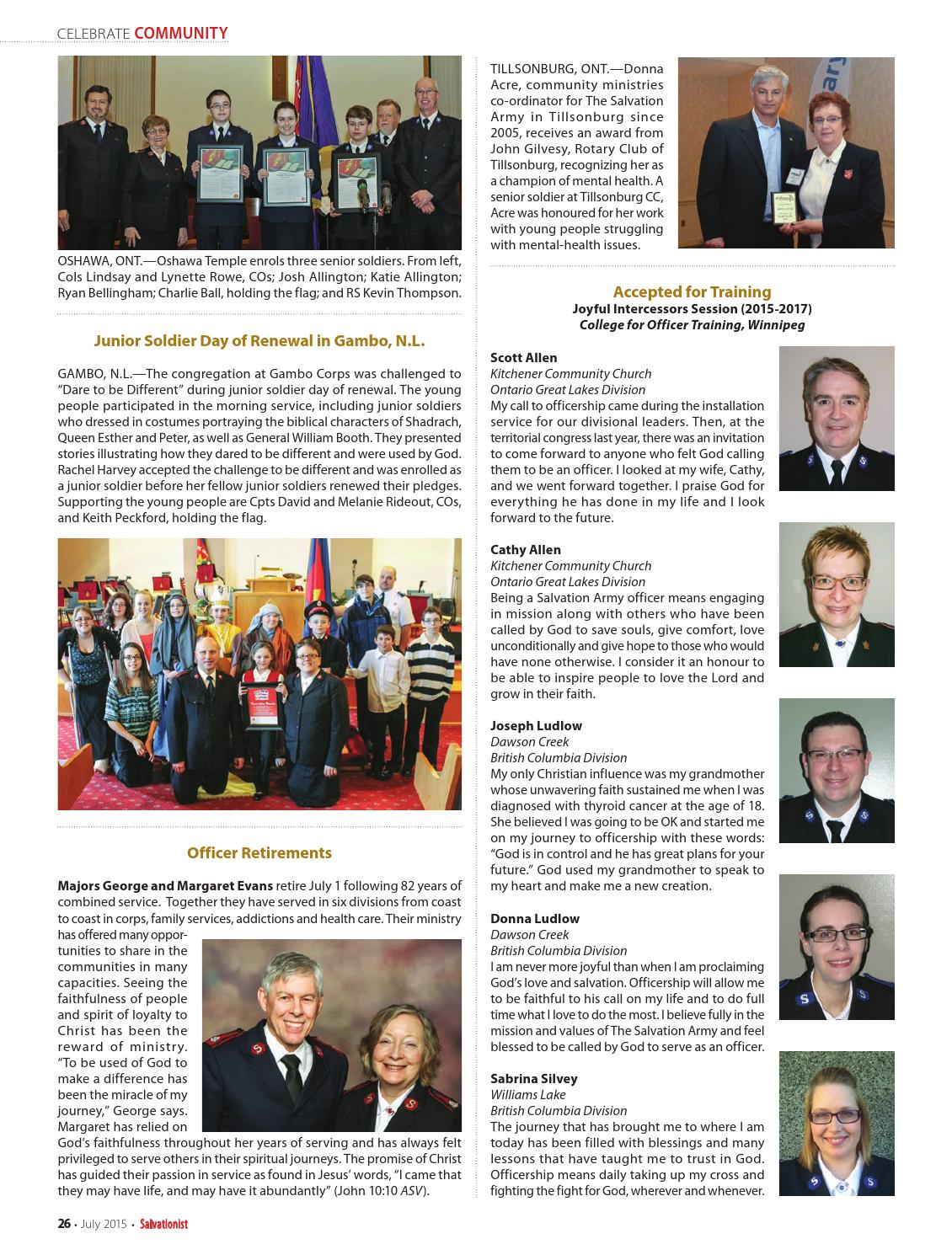 Salvationist - July 2015 by The Salvation Army - issuu