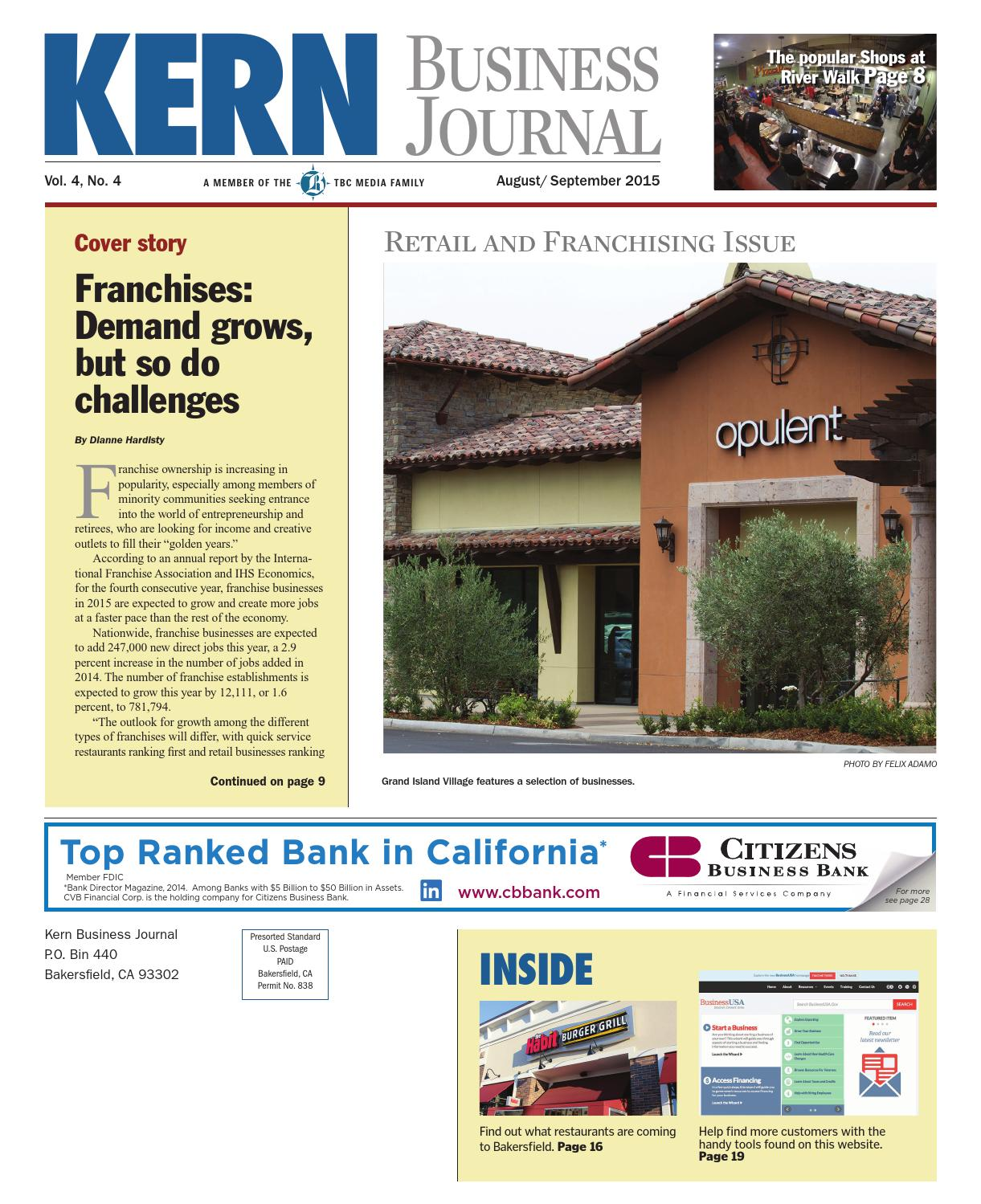 Kern Business Journal August September 2015 by TBC Media Specialty  Publications - issuu 188c962a84
