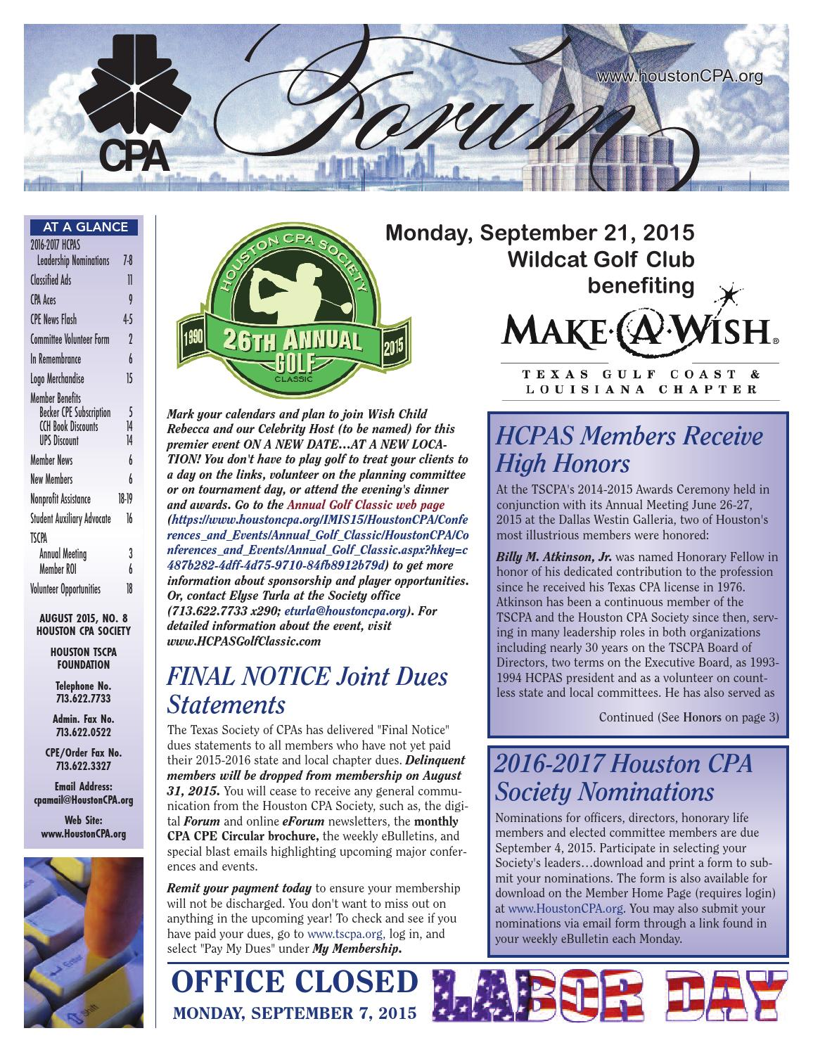 August 2015 cpa forum by houston cpa forum issuu fandeluxe Images