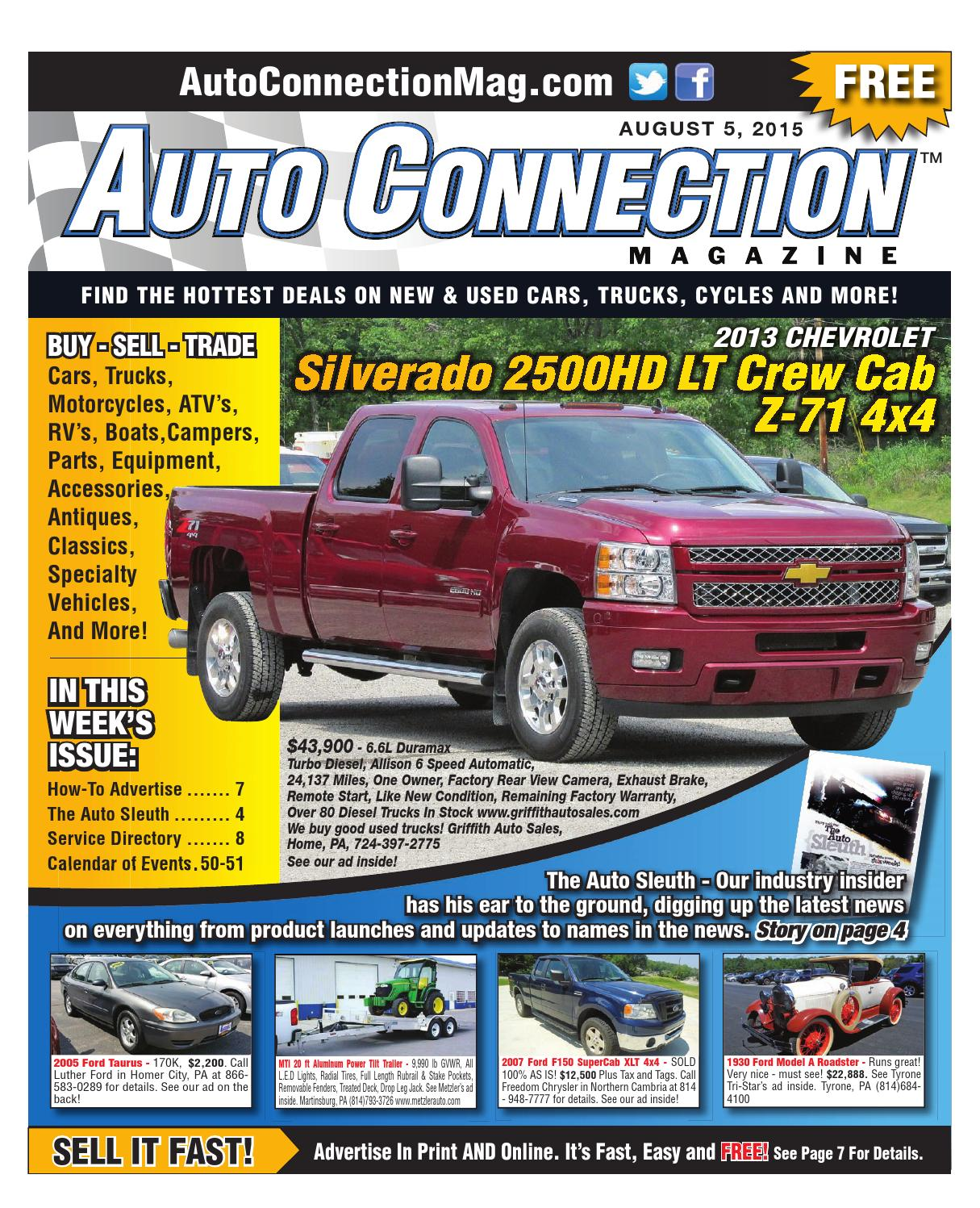 08 05 15 Auto Connection Magazine By Issuu Gm Duramax Sel Engine
