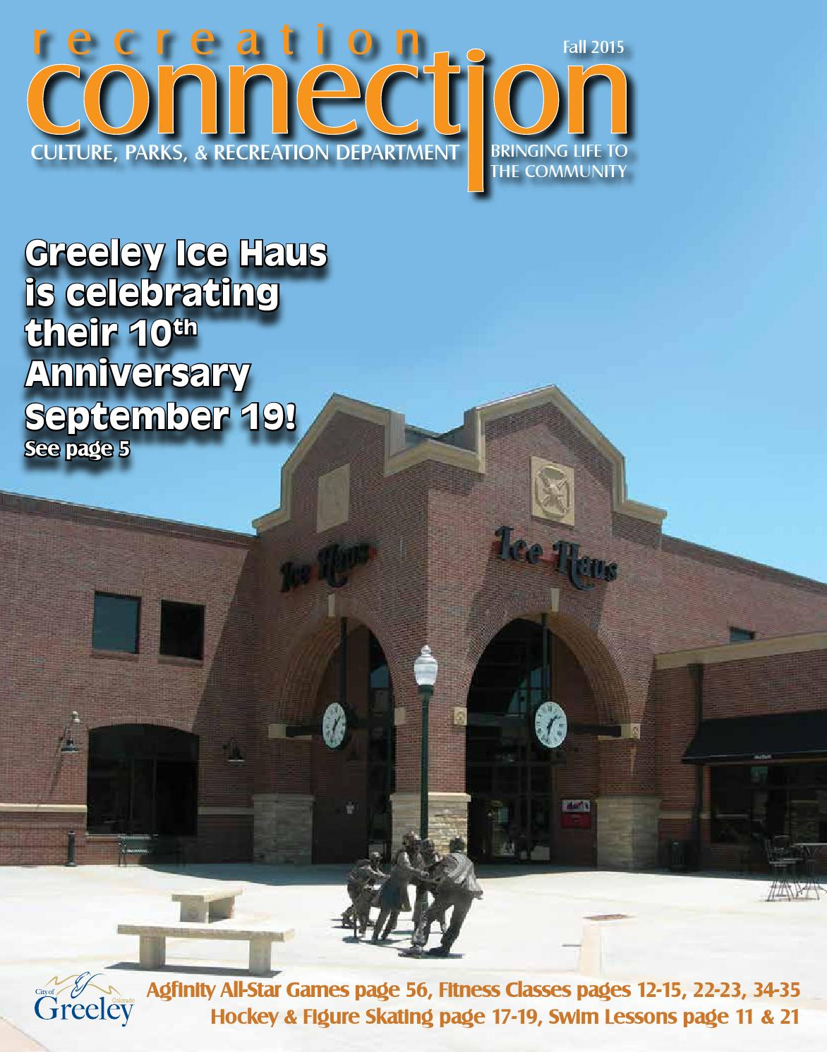 Fall2015recreationconnection By City Of Greeley Culture Parks And