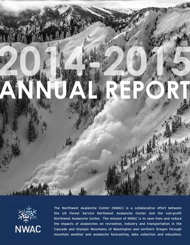 2014 2015 northwest avalanche center annual report by northwest page 1 publicscrutiny Image collections