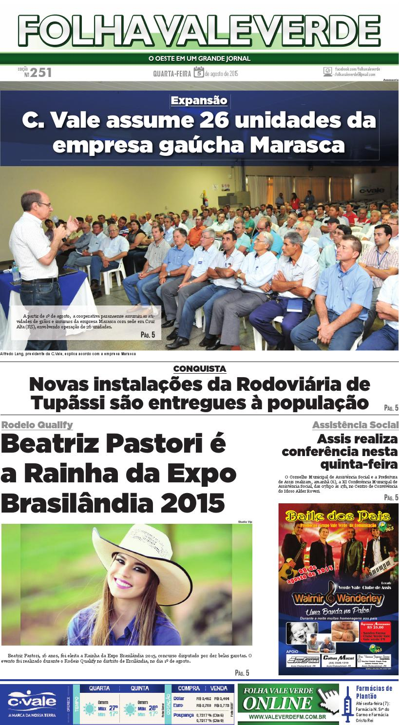 Edição nº 251 05.08.2015 by Folha Vale Verde - issuu 120d9093477c8