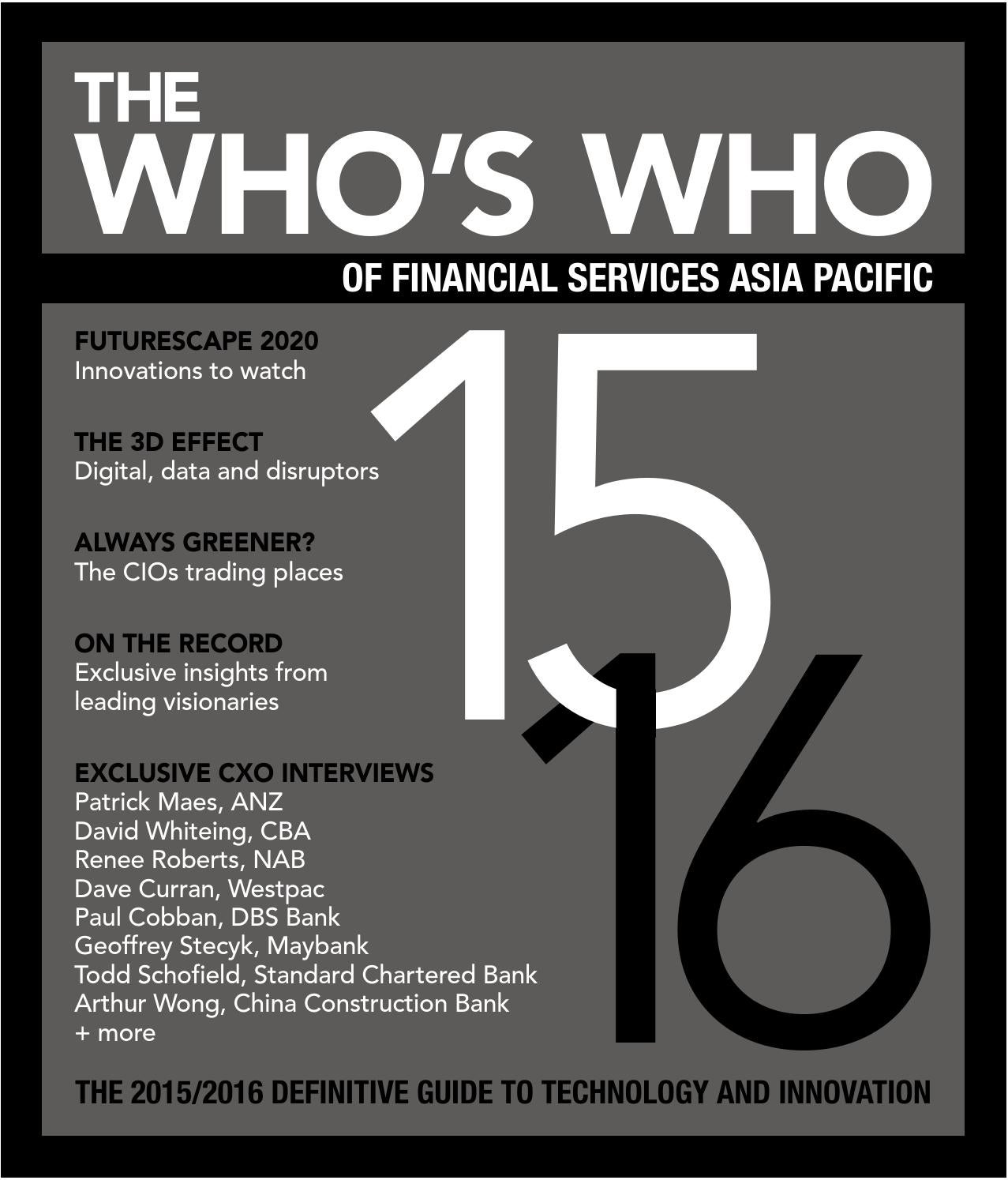 Whos Who Of Financial Services Asia Pacific 20152016 By Fst Media