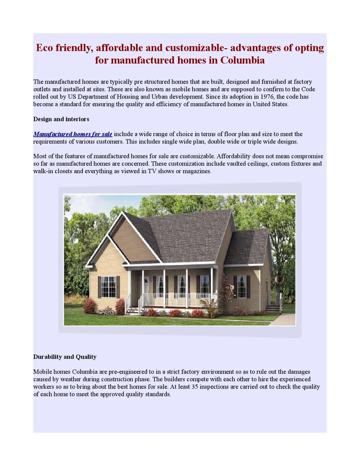 Advantages of manufactured homes by David Fautley - issuu on mobile home ranch, mobile home offices, mobile home garages, mobile home luxury, mobile home lofts,