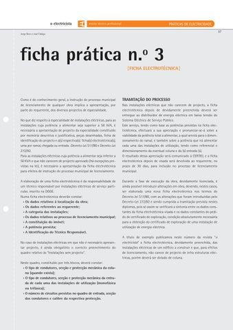 Ficha Pr 225 Tica N 186 3 Ficha Electrot 233 Cnica By Cie Issuu