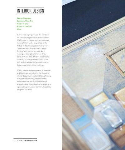 Scad school of building arts brochure 2015 by scad issuu for Interior design certificate programs atlanta